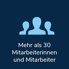 Mehr als 30 Mitarbeiterinnen und Mitarbeiter